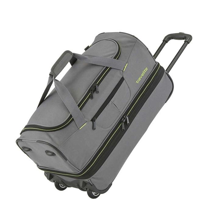 Travelite Basics Wheeled Duffle 55 Expandable grey / green