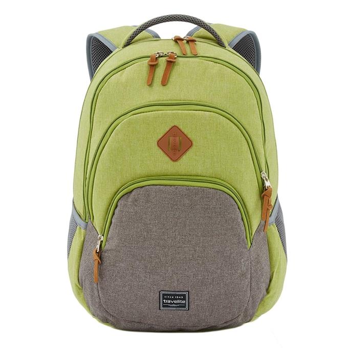 Travelite Basics Backpack Melange green/grey - 1