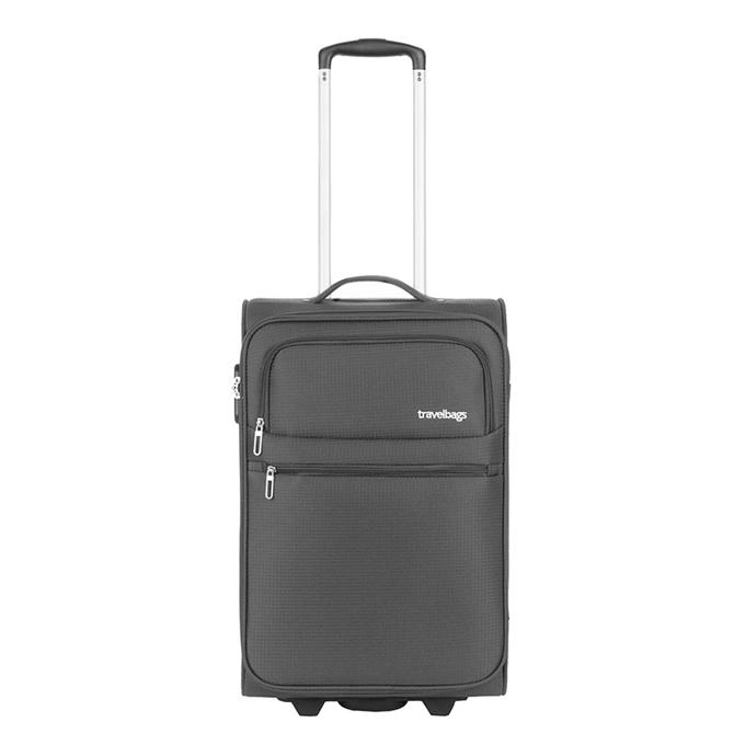 Travelbags Lissabon Handbagage koffer - 55 cm - 2 wielen - dark grey
