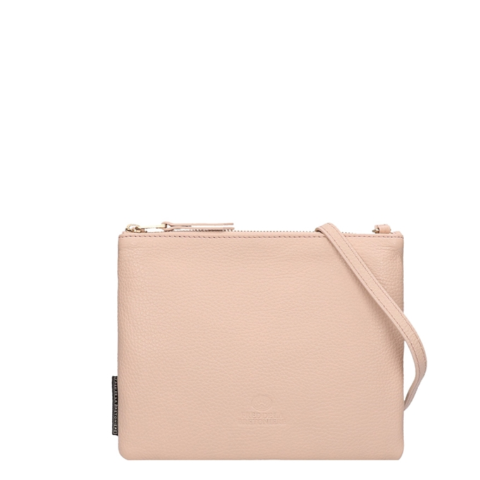 Fred de la Bretoniere Grain Leather Crossbody Bag L blush pink