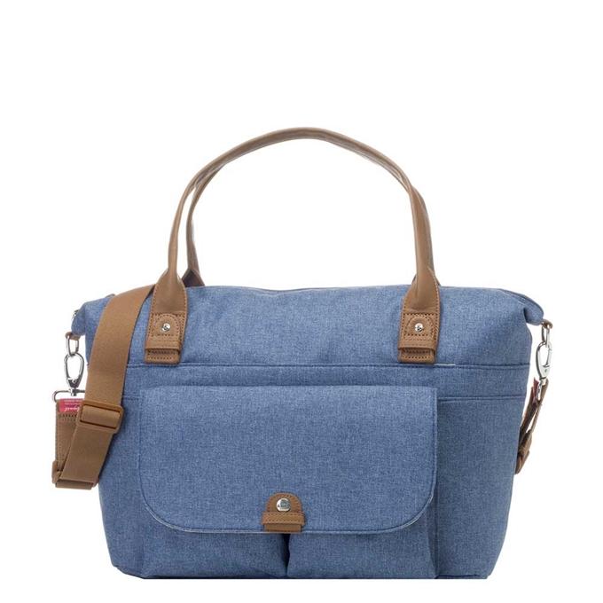 Babymel Jade Diaper Bag mid blue - 1