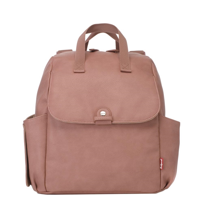 Babymel Robyn Convertible Backpack faux leather dusty pink