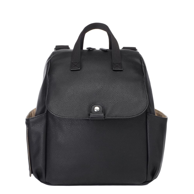 Babymel Robyn Convertible Backpack faux leather black