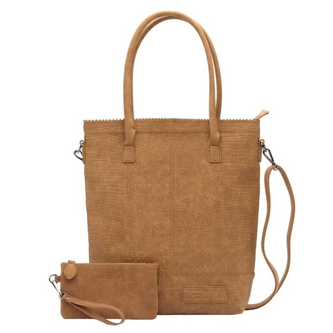 Zebra Trends Natural Bag Kartel XL Rits Croco camel - 1