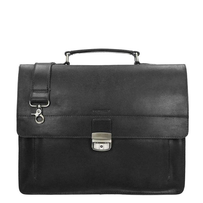 Burkely Scott Vintage Briefcase 2 Compartment black - 1