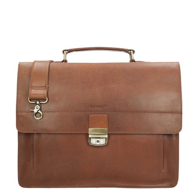 Burkely Scott Vintage Briefcase 2 Compartment cognac