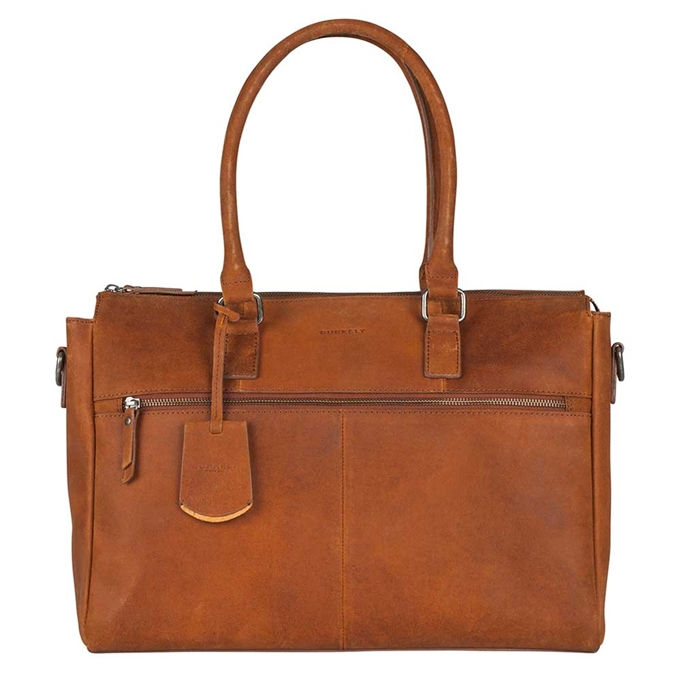 "Burkely On The Move Laptopbag 15"" Zipper cognac"