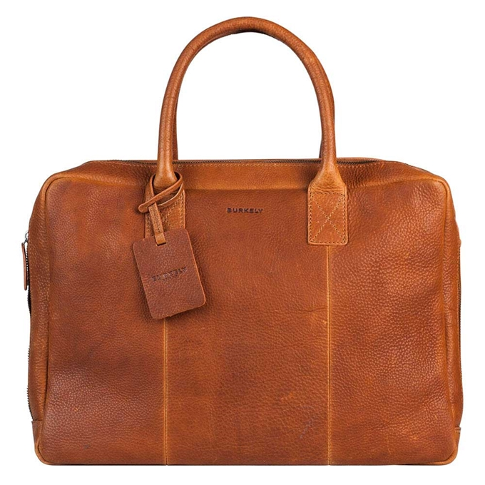 """Burkely Antique Avery Worker 15.6"""" cognac - 1"""