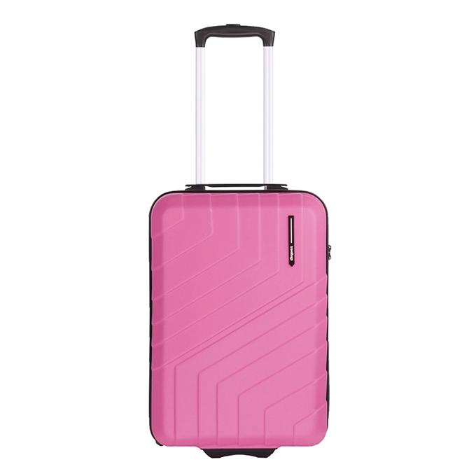 Travelbags Barcelona Handbagage koffer - 55 cm - 2 wielen dark pink - 1