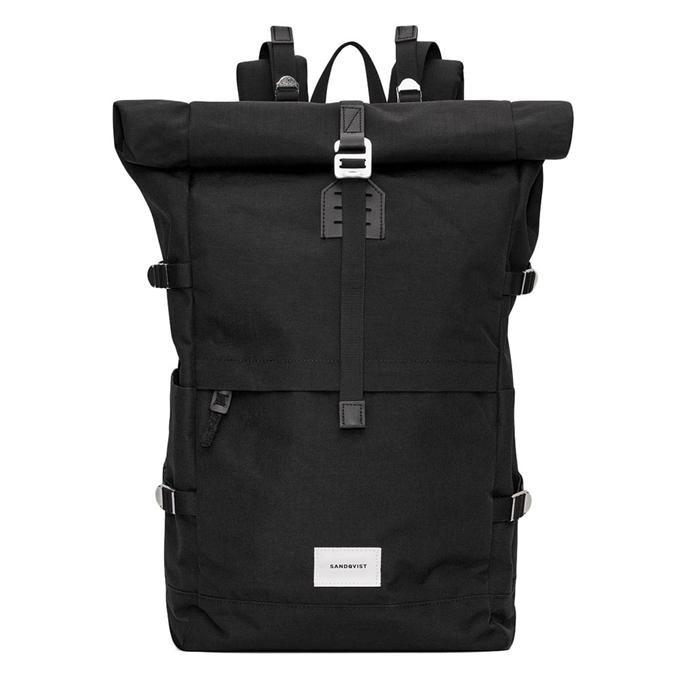 Sandqvist Bernt Backpack black with black leather