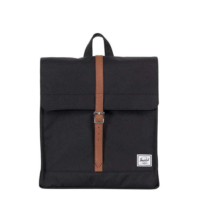 Herschel Supply Co. City Mid-Volume Rugzak black/tan synthetic leather