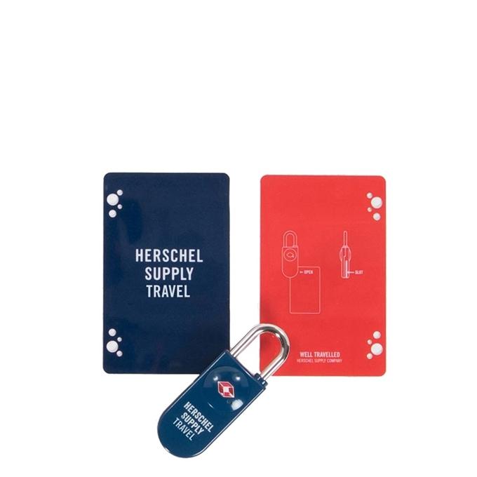 Herschel Supply Co. Travel Accessories TSA Card Lock navy/red - 1