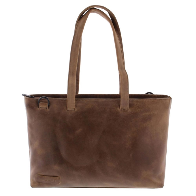"Plevier Pure Rutland Dames Totebag 15.6"" taupe - 1"