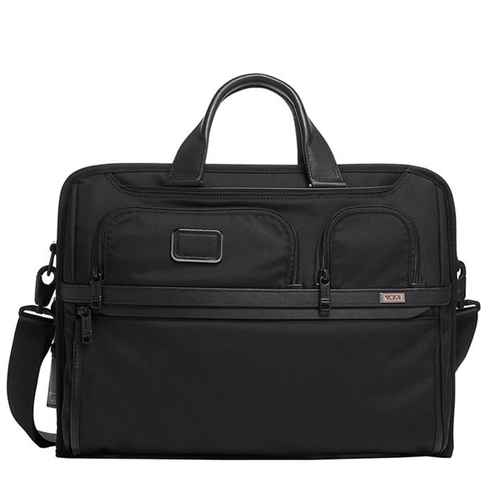 Tumi Alpha 3 Compact Large Laptop Briefcase black - 1