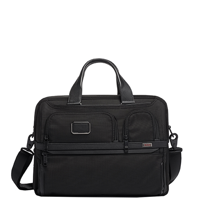 Tumi Alpha Expandable Organizer Laptop Brief black