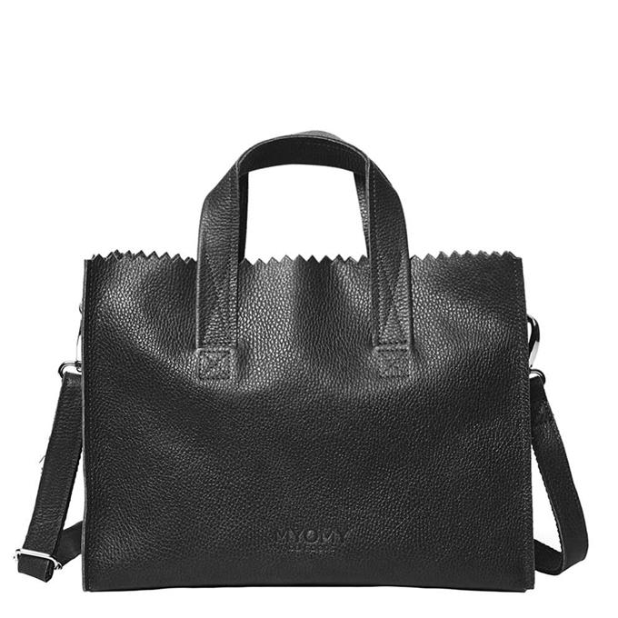 MYoMY Paper Bag Handbag Crossbody rambler black