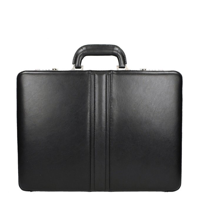 Dermata Business Leather Attaché zwart2