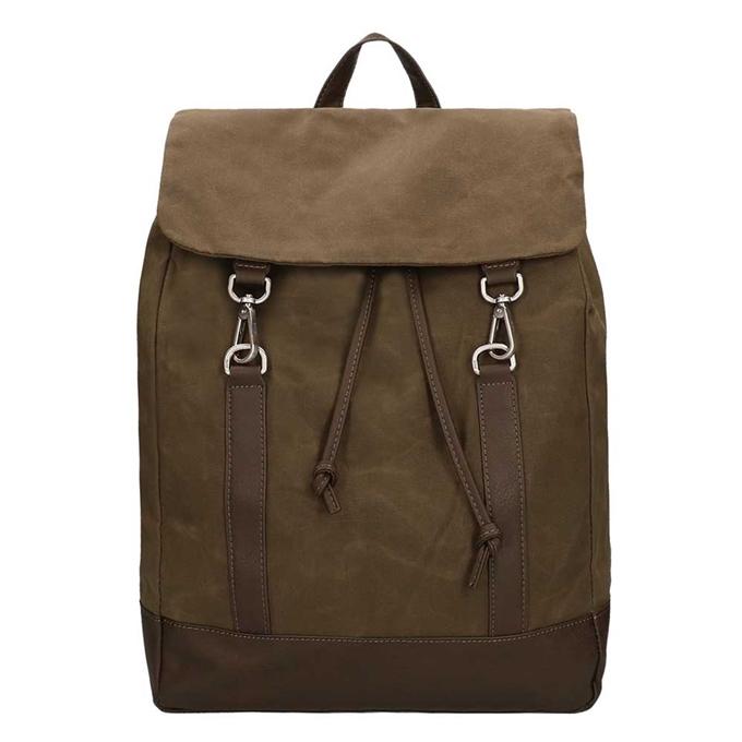 Jost Goteborg Drawstring Backpack olive2 - 1