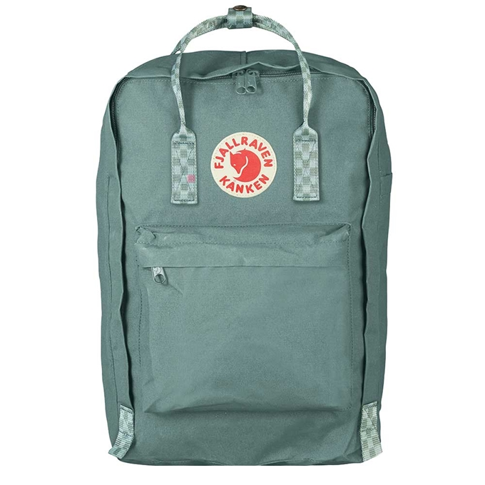 Fjallraven Kanken Laptop 17'' Rugzak frost green / chess pattern