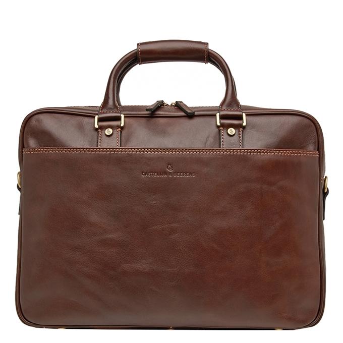 """Castelijn & Beerens Verona Business Laptoptas 15.6"""" mokka - 1"""