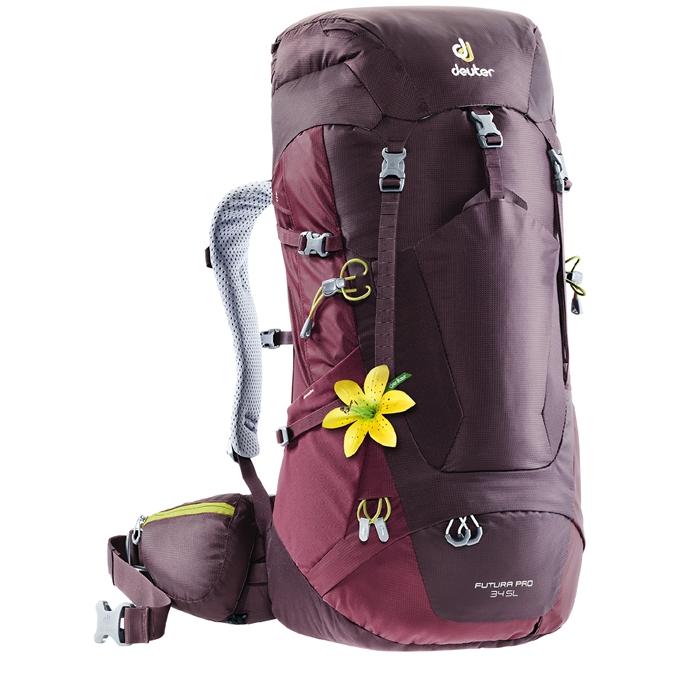 Deuter Futura Pro 34 SL Backpack aubergine / maron - 1