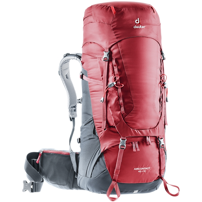 Deuter Aircontact 45 + 10 Backpack cranberry/graphite - 1