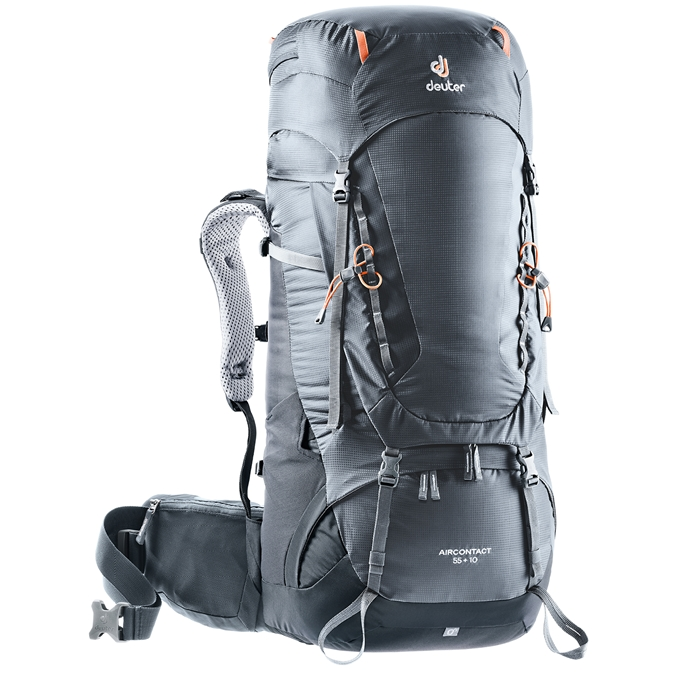 Deuter Aircontact 55 + 10 Backpack graphite/black - 1