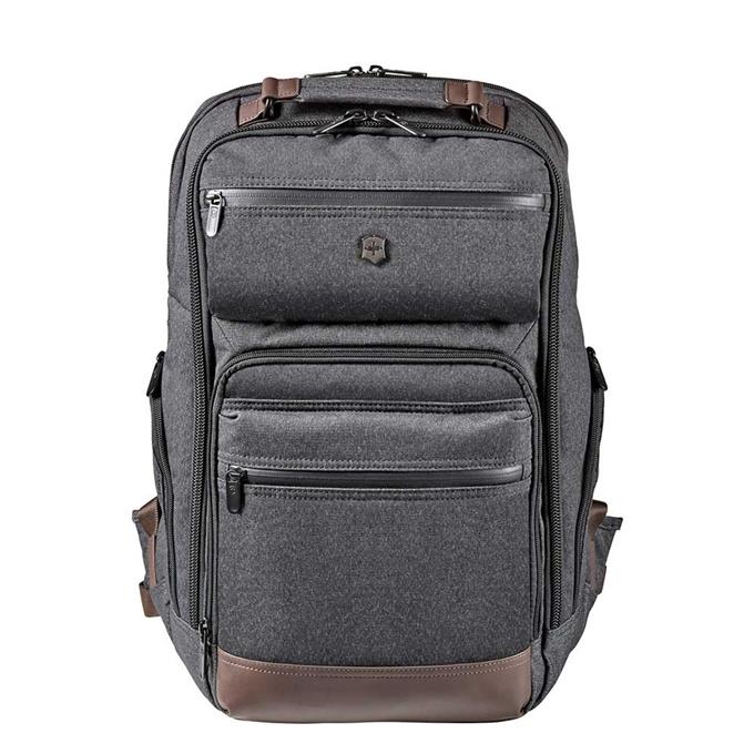 Victorinox Architecture Urban Rath Slim Backpack grey / brown - 1