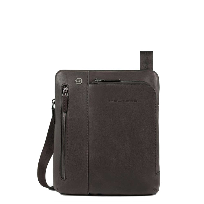 Piquadro Black Square Crossbody Bag dark brown