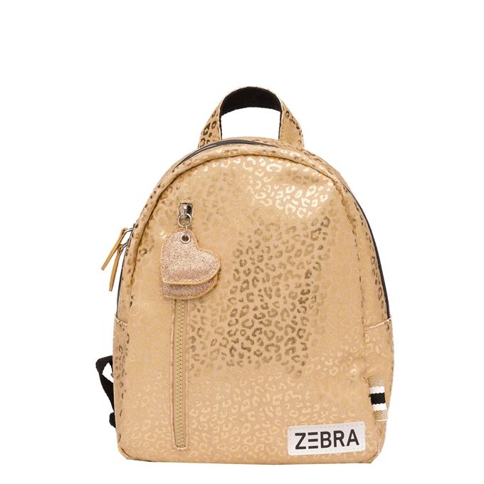 Zebra Trends Girls Rugzak S gold metallic leo