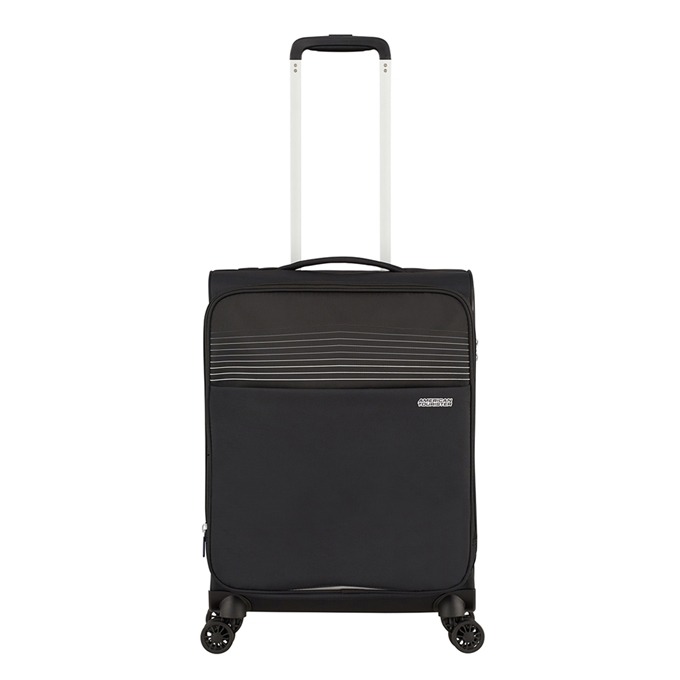American Tourister Lite Ray Spinner 55 Expandable jet black