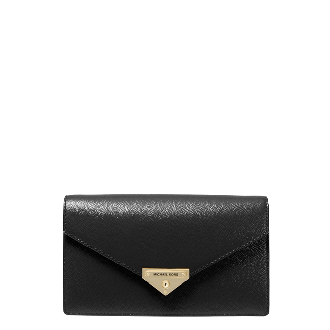 Michael Kors Grace Medium Envelope Clutch black