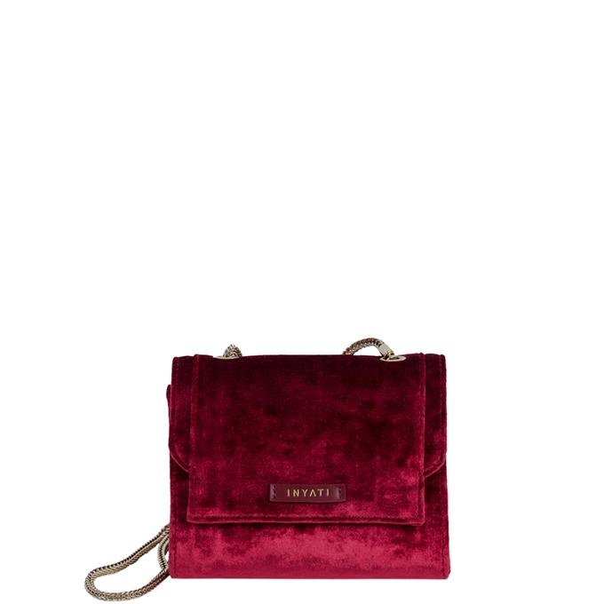 Inyati Eva Crossbodybag burgundy velvet - 1