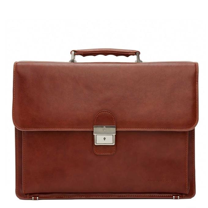 """Castelijn & Beerens Realta Laptoptas 15.4"""" cognac - 1"""