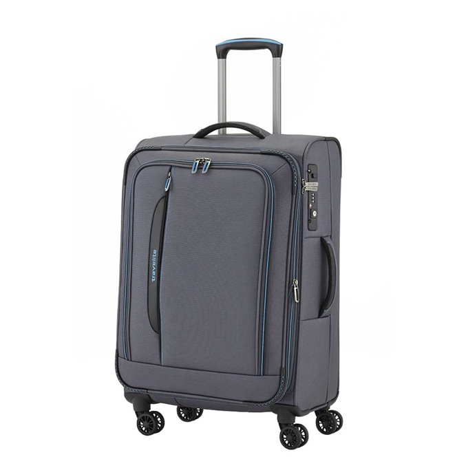 Travelite Crosslite 4 Wiel Trolley M Expandable anthracite - 1