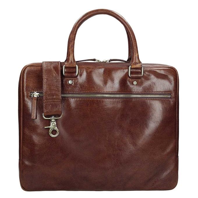 Leonhard Heyden Cambridge 1 Compartment Briefcase S medium brown - 1