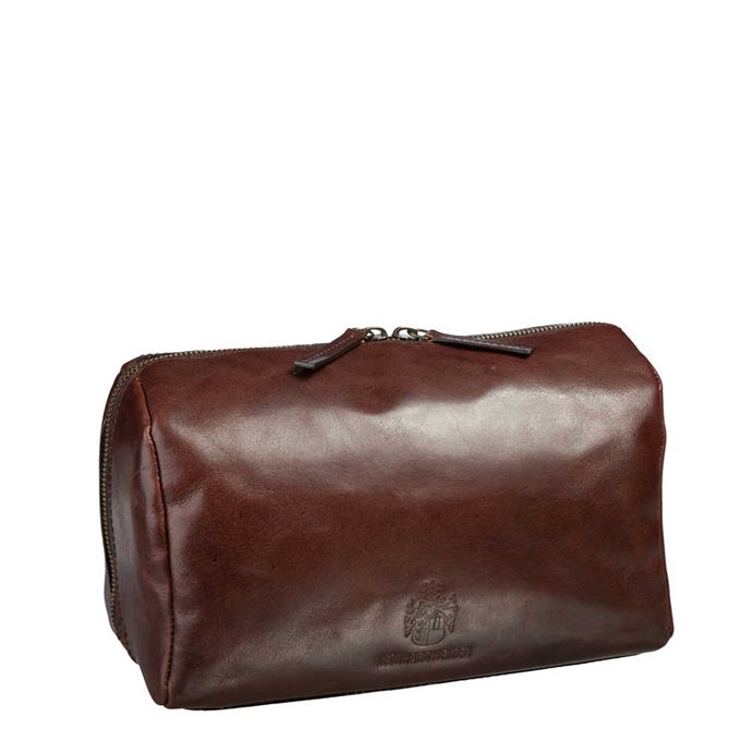 Leonhard Heyden Cambridge Toilet Bag medium brown - 1