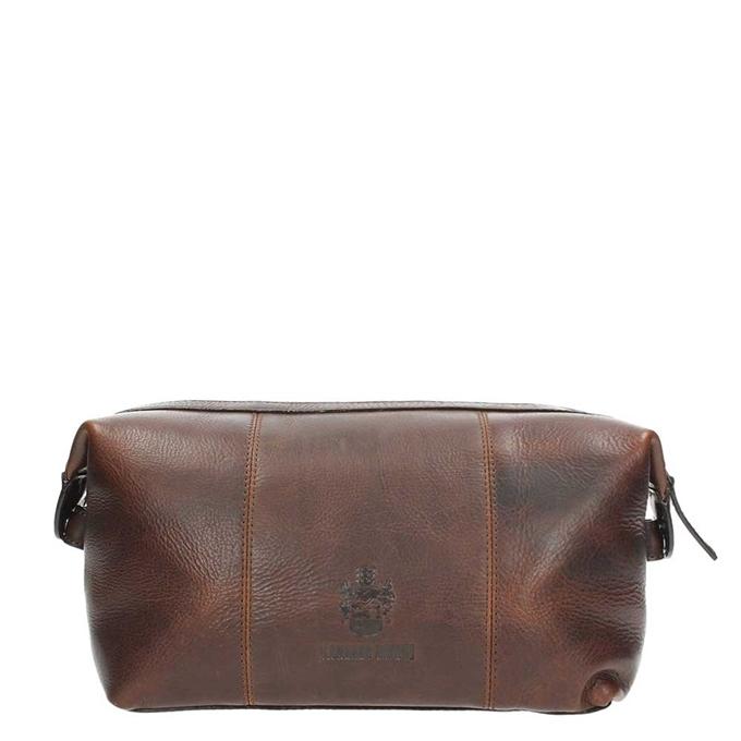 Leonhard Heyden Roma Toilet Bag dark brown - 1