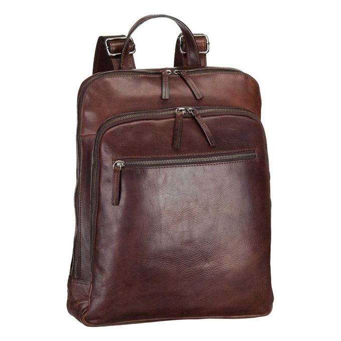 Leonhard Heyden Roma Business Backpack brown - 1