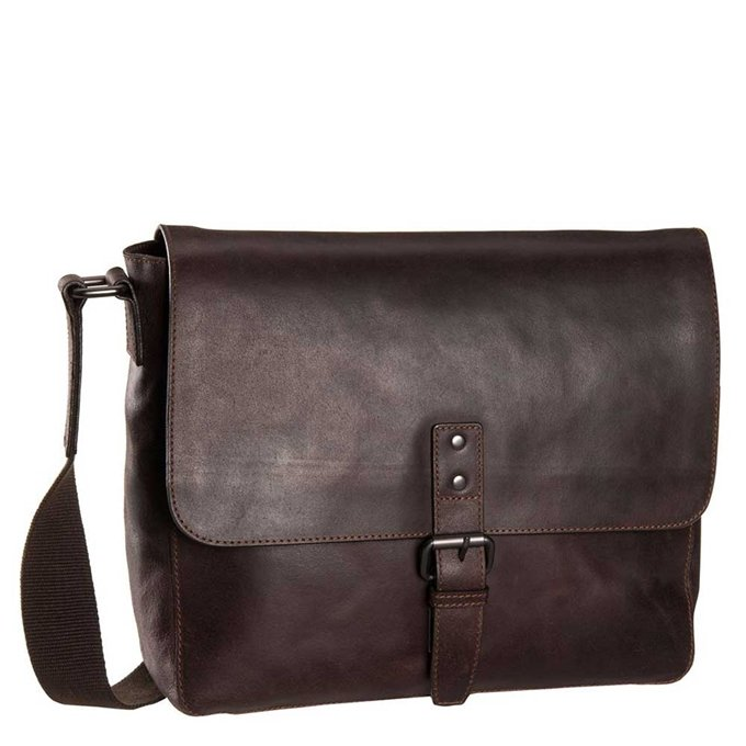 Leonhard Heyden Dakota Messenger Bag M brown