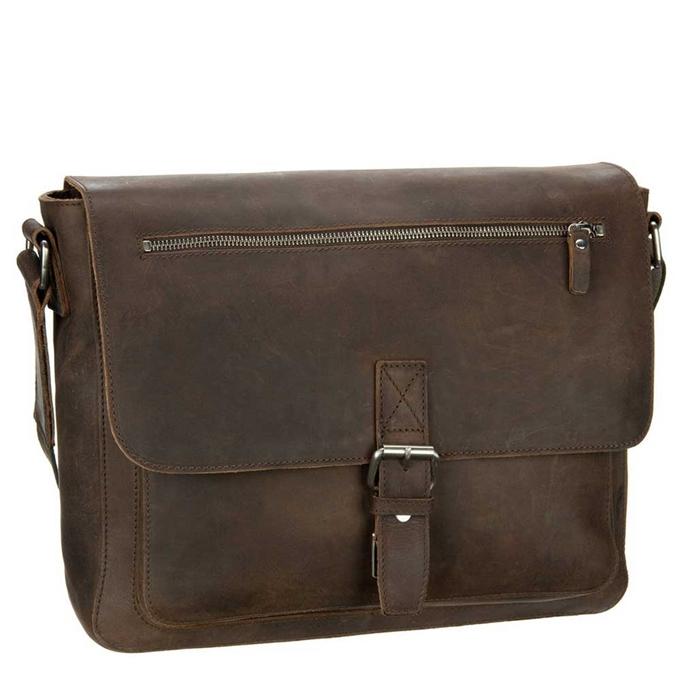 Leonhard Heyden Salisbury Messenger Bag M brown - 1