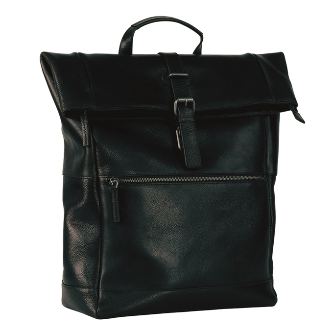 Leonhard Heyden Roma Backpack Rolltop black