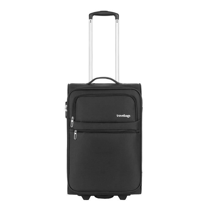Travelbags Lissabon Handbagage koffer - 55 cm - 2 wielen - black - 1