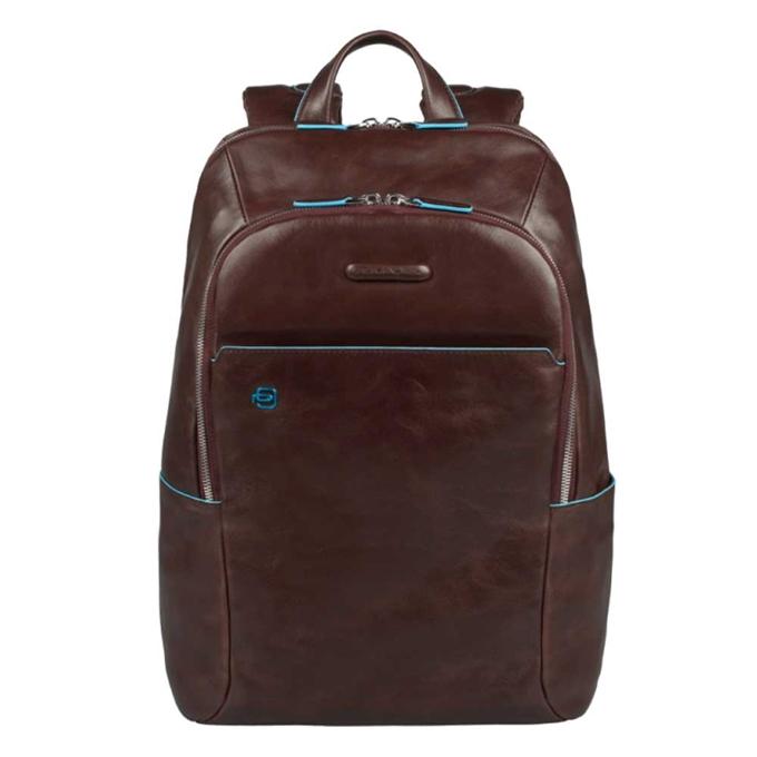 Piquadro Blue Square Backpack mahogany