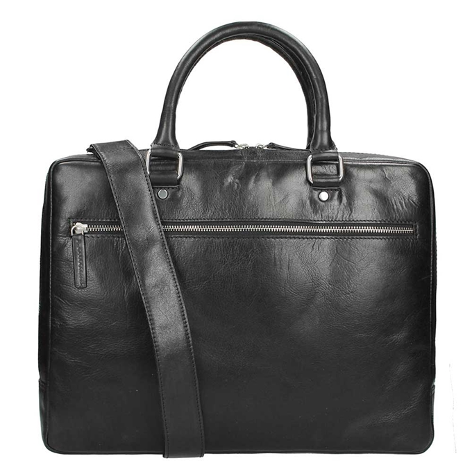 Leonhard Heyden Cambridge 1 Compartment Briefcase S black - 1