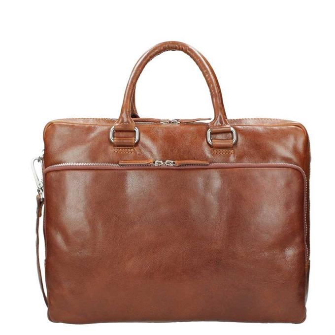 Leonhard Heyden Cambridge Briefcase L cognac - 1