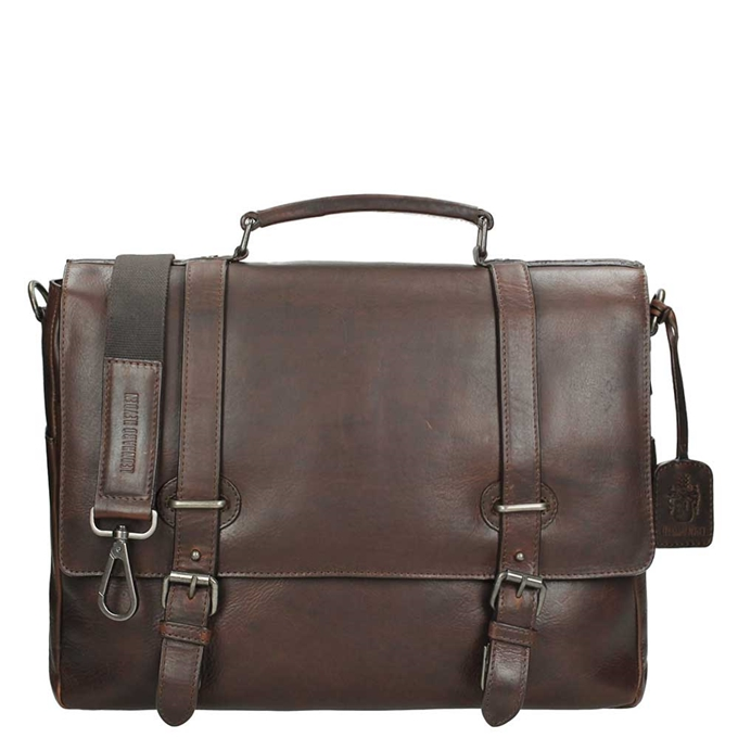 Leonhard Heyden Roma Briefcase 2 Compartments dark brown - 1