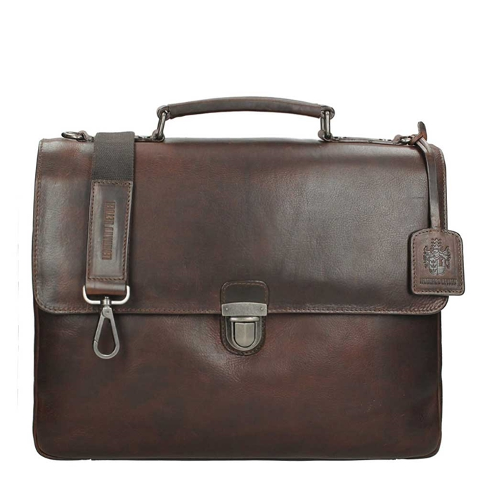 Leonhard Heyden Roma Briefcase 2 Compartments brown - 1