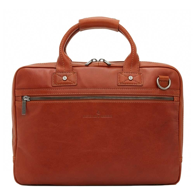 "Castelijn & Beerens Firenze Business Laptopbag 15.6"" licht bruin - 1"
