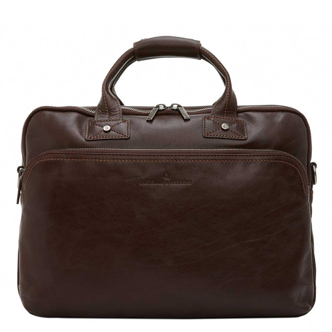 "Castelijn & Beerens Firenze Business Laptoptas 15,6"" 3 vaks mokka - 1"